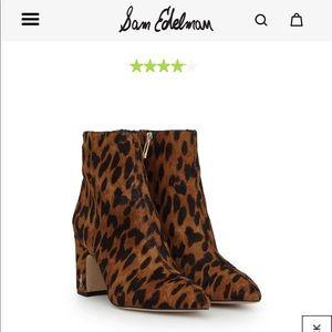 LIKE NEW Sam Edelman Hilty Leopard Bootie